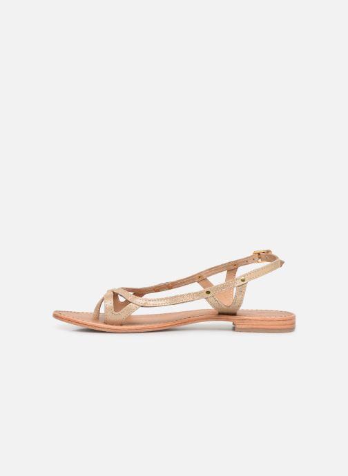 Sandals Les Tropéziennes par M Belarbi Isatis Bronze and Gold front view