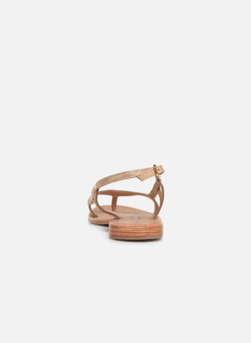 Sandals Les Tropéziennes par M Belarbi Isatis Bronze and Gold view from the right