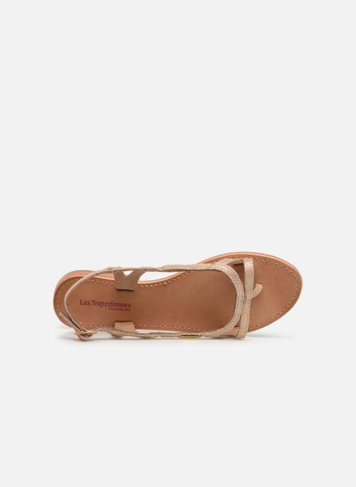 Sandals Les Tropéziennes par M Belarbi Isatis Bronze and Gold view from the left