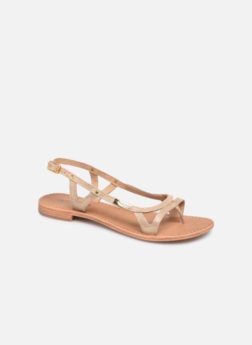 Sandals Les Tropéziennes par M Belarbi Isatis Bronze and Gold detailed view/ Pair view