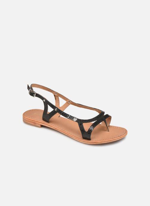Sandales et nu-pieds Les Tropéziennes par M Belarbi Isatis Noir vue détail/paire