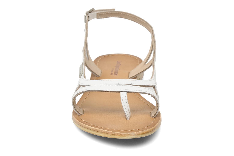 Sandales et nu-pieds Les Tropéziennes par M Belarbi Isatis Blanc vue portées chaussures