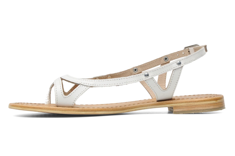 Sandales et nu-pieds Les Tropéziennes par M Belarbi Isatis Blanc vue face