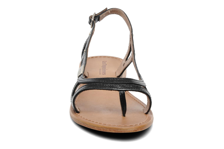 Sandalen Les Tropéziennes par M Belarbi Isatis schwarz schuhe getragen