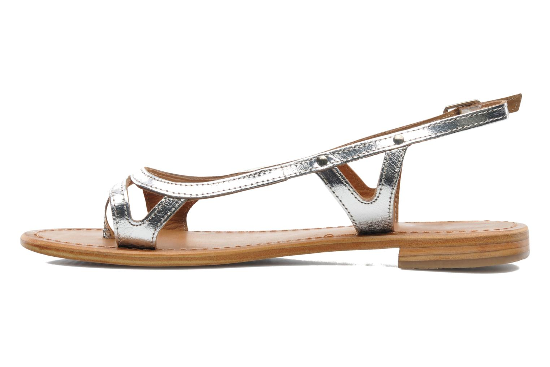 Sandales et nu-pieds Les Tropéziennes par M Belarbi Isatis Argent vue face