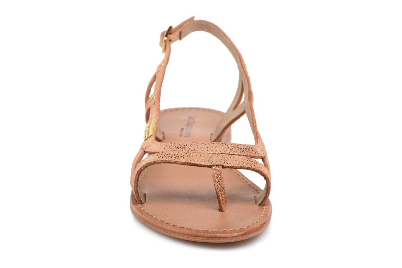 Sandales et nu-pieds Les Tropéziennes par M Belarbi Isatis Rose vue portées chaussures