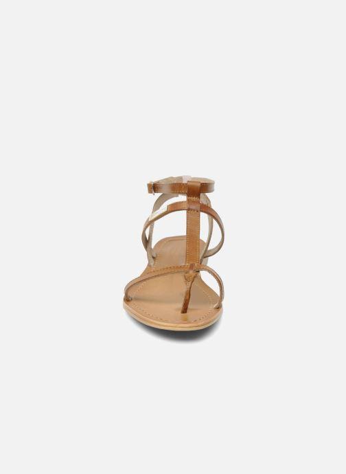 Sandalias Les Tropéziennes par M Belarbi Hilan Marrón vista del modelo