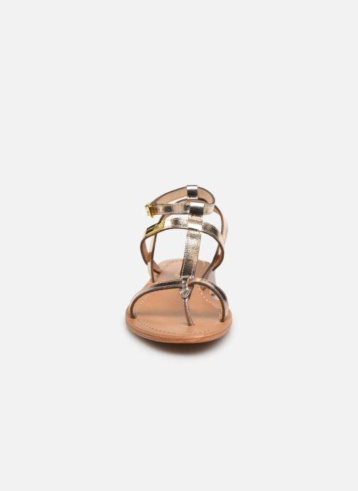 Sandales et nu-pieds Les Tropéziennes par M Belarbi Hilan Or et bronze vue portées chaussures