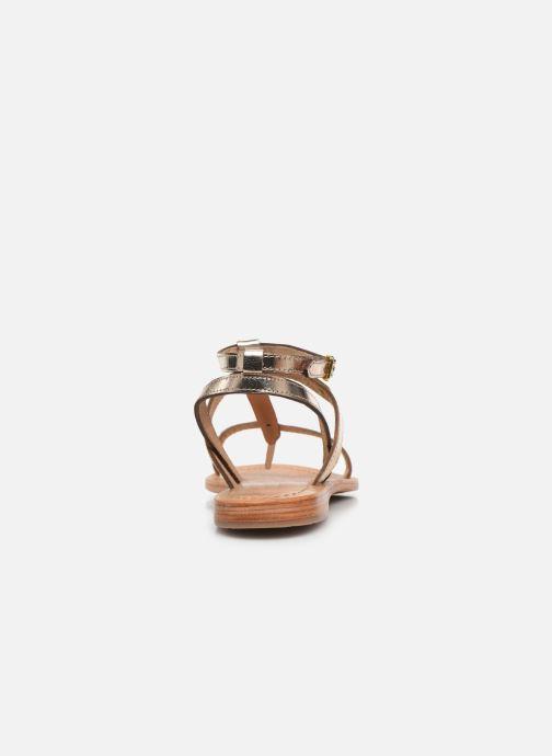 Sandalias Les Tropéziennes par M Belarbi Hilan Oro y bronce vista lateral derecha
