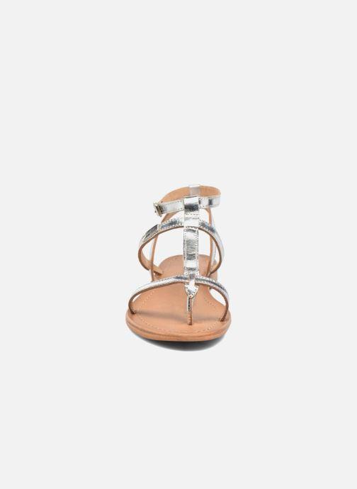 Sandales et nu-pieds Les Tropéziennes par M Belarbi Hilan Argent vue portées chaussures