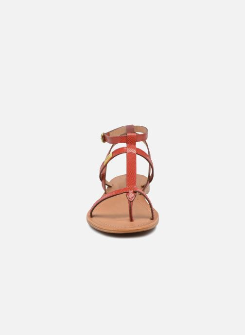 Sandales et nu-pieds Les Tropéziennes par M Belarbi Hilan Rouge vue portées chaussures