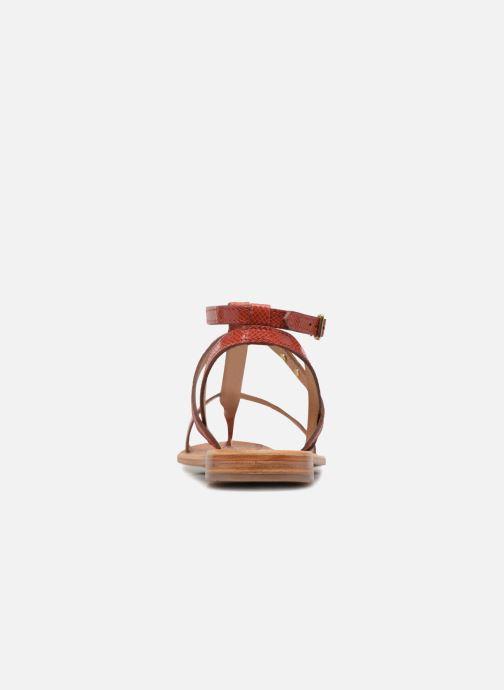 Sandales et nu-pieds Les Tropéziennes par M Belarbi Hilan Rouge vue droite