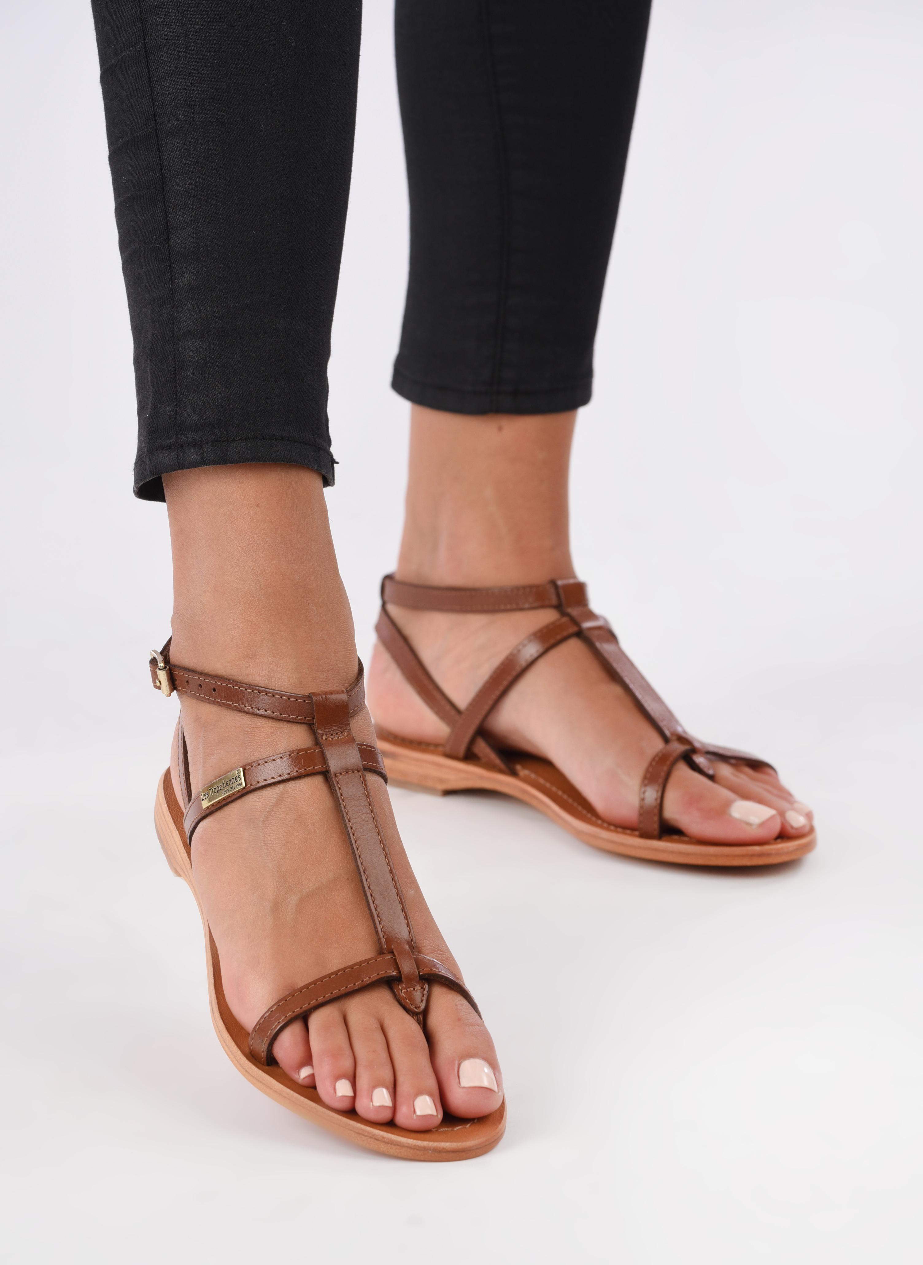 Sandals Les Tropéziennes par M Belarbi Hilan Brown view from underneath / model view