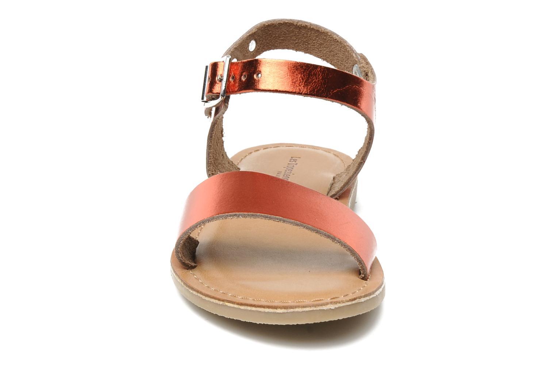 Sandales et nu-pieds Les Tropéziennes par M Belarbi Hiliona E Rouge vue portées chaussures