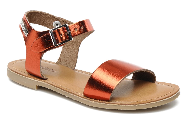 Sandales et nu-pieds Les Tropéziennes par M Belarbi Hiliona E Rouge vue détail/paire