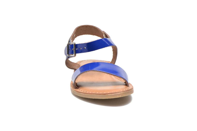 Sandales et nu-pieds Les Tropéziennes par M Belarbi Hiliona E Bleu vue portées chaussures