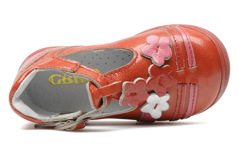 Bottines et boots GBB Béatrice Rouge vue gauche