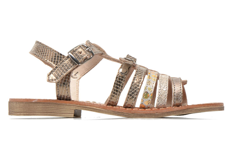 Sandales et nu-pieds Ramdam by GBB Bangkok Or et bronze vue derrière