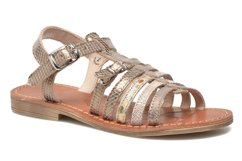 Sandales et nu-pieds Ramdam by GBB Bangkok Or et bronze vue détail/paire