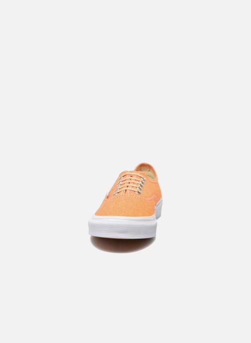 Deportivas Vans Authentic Slim W Naranja vista del modelo