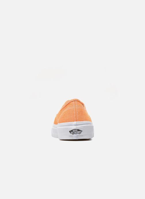 Deportivas Vans Authentic Slim W Naranja vista lateral derecha