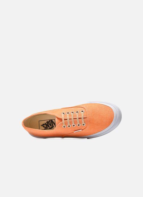 Deportivas Vans Authentic Slim W Naranja vista lateral izquierda