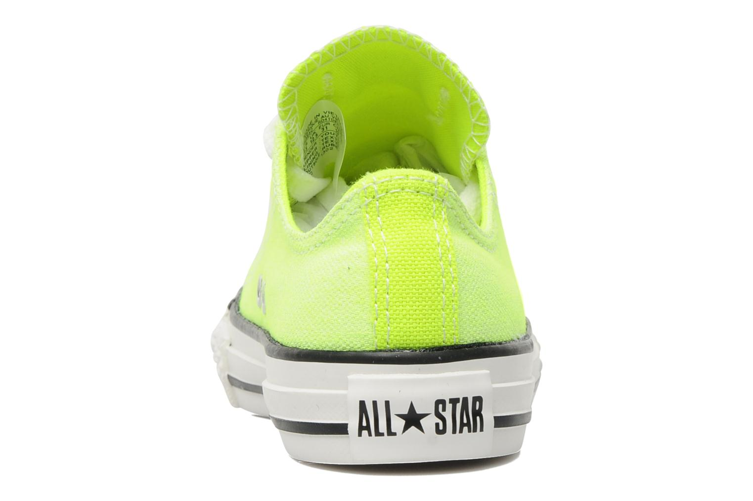 Baskets Converse Chuck Taylor All Star Neon Washed Ox K Jaune vue droite