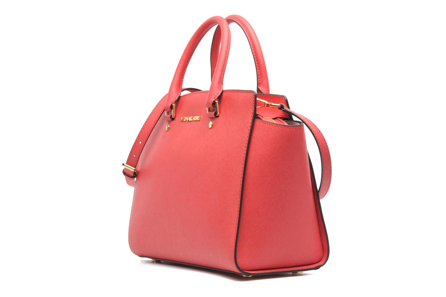 Handbags Michael Michael Kors SELMA LG TZ Satchel Pink model view