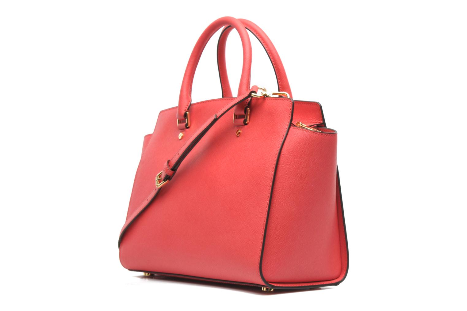Handbags Michael Michael Kors SELMA LG TZ Satchel Pink view from the right