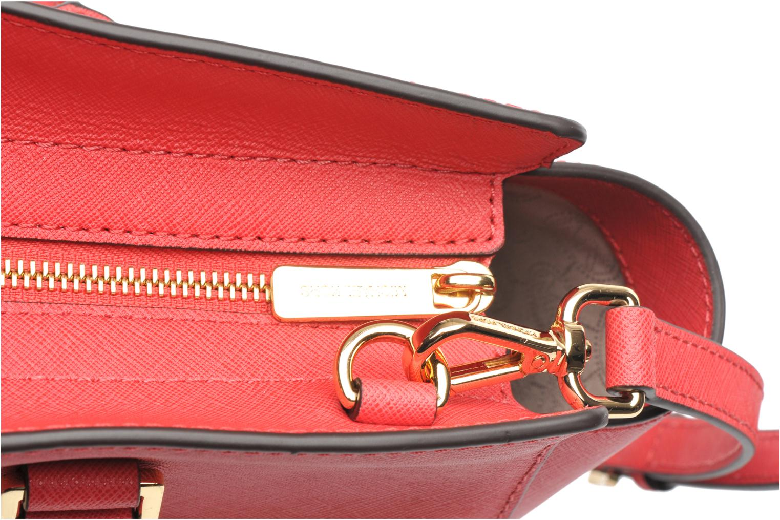 Handbags Michael Michael Kors SELMA LG TZ Satchel Pink view from the left