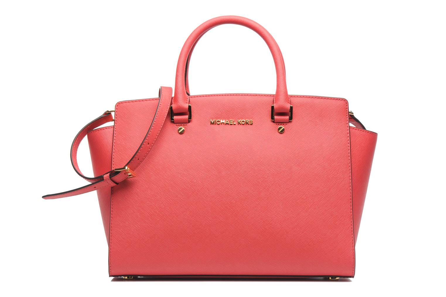 Handbags Michael Michael Kors SELMA LG TZ Satchel Pink detailed view/ Pair view