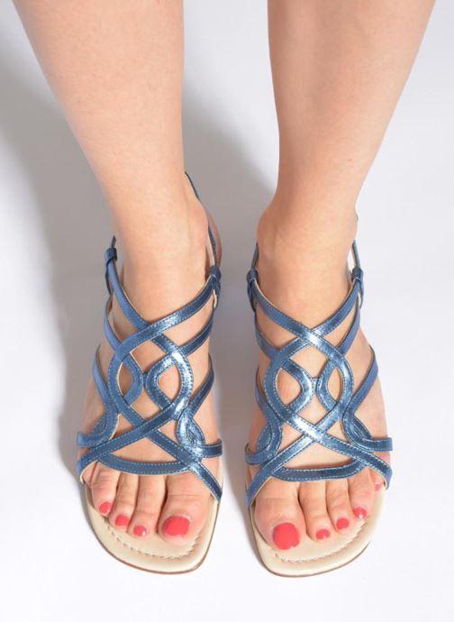 Sandales et nu-pieds Anna Volodia Aplat Bleu vue bas / vue portée sac
