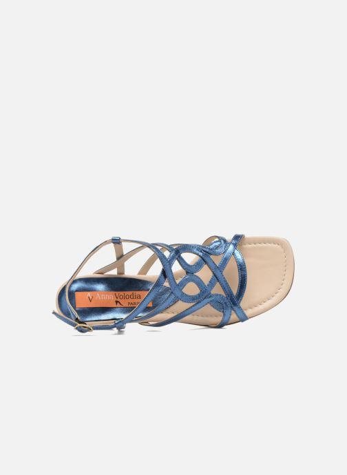 Sandales et nu-pieds Anna Volodia Aplat Bleu vue gauche