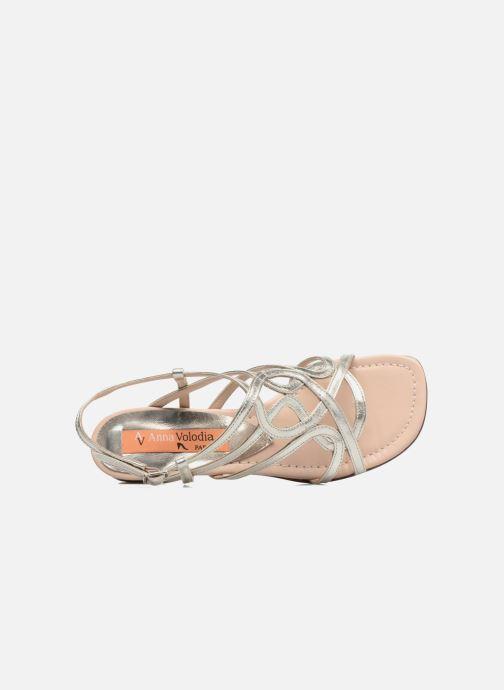 Sandales et nu-pieds Anna Volodia Aplat Or et bronze vue gauche