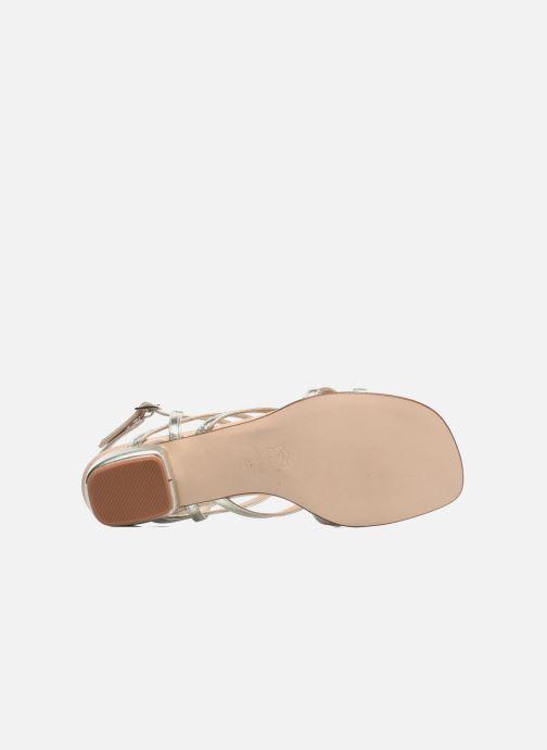 Sandales et nu-pieds Anna Volodia Aplat Or et bronze vue haut