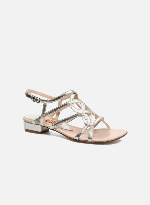 Sandales et nu-pieds Anna Volodia Aplat Or et bronze vue détail/paire