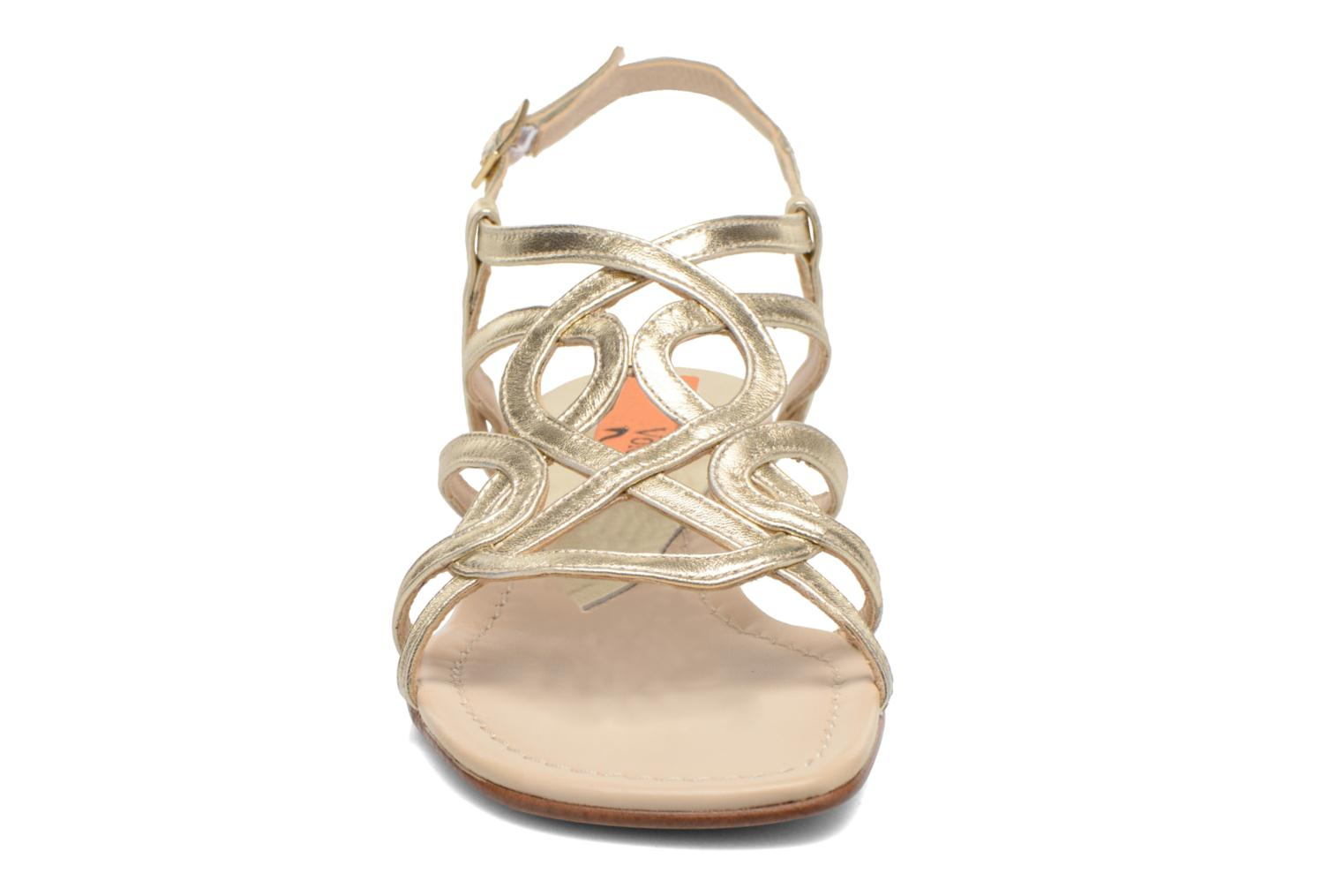 Sandals Anna Volodia Aplat Bronze and Gold model view
