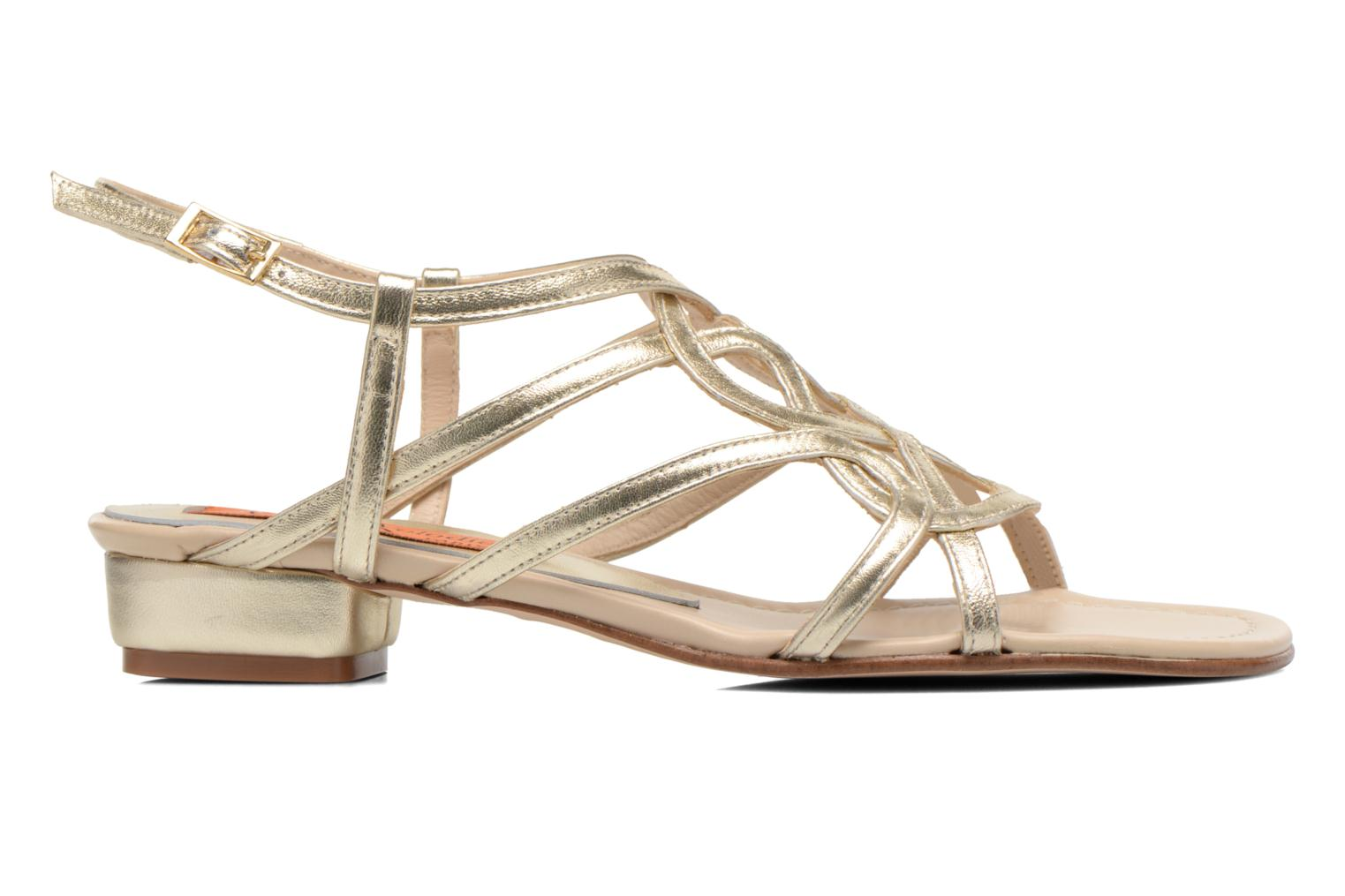 Sandals Anna Volodia Aplat Bronze and Gold back view