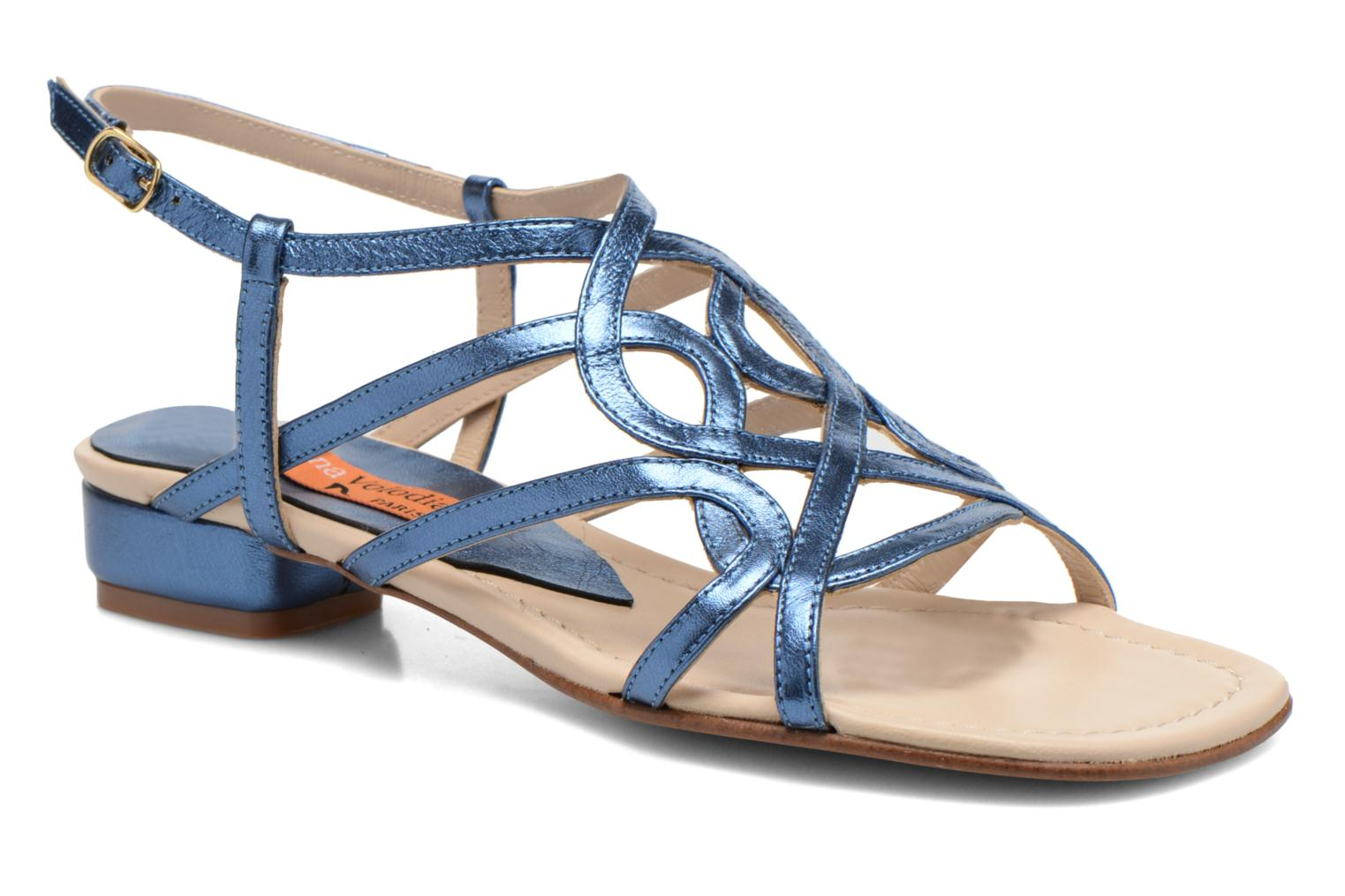 Sandals Anna Volodia Aplat Blue detailed view/ Pair view