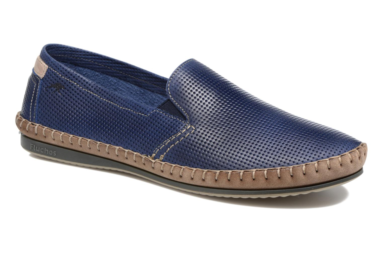 Loafers Fluchos Bahamas 8674 Blå detaljerad bild på paret