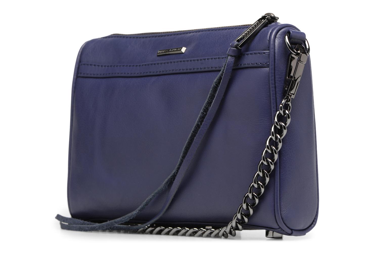 Handtaschen Rebecca Minkoff Mini MAC blau ansicht von rechts