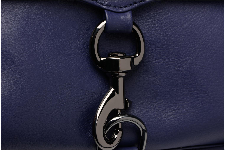 Handtaschen Rebecca Minkoff Mini MAC blau ansicht von links
