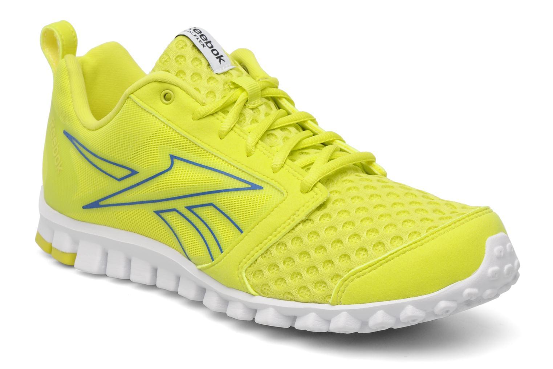 Sport shoes Reebok Realflex Scream 2.0 Yellow detailed view Pair view ... 519ccf7c7