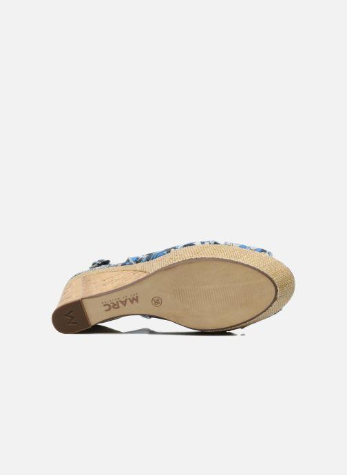 Sandales et nu-pieds MARC MINOUCHE Bleu vue haut