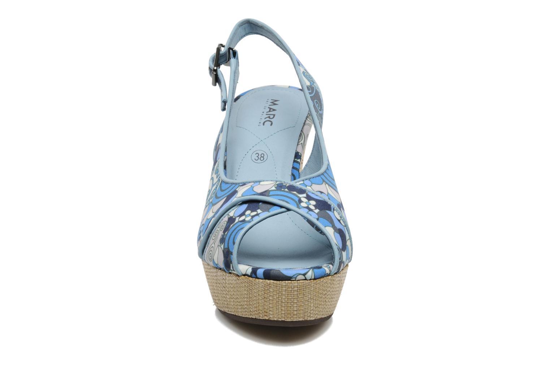 Sandales et nu-pieds MARC MINOUCHE Bleu vue portées chaussures