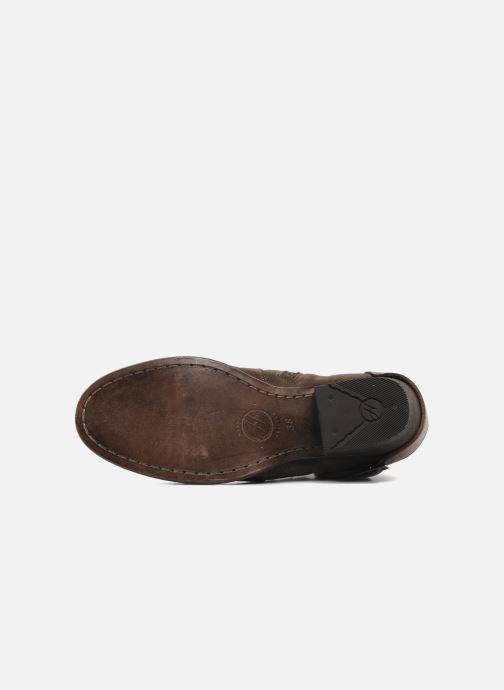 Bottines et boots H By Hudson ENCKE Marron vue haut