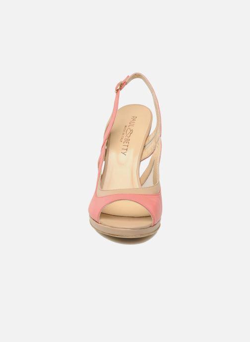Sandales et nu-pieds Paul & Betty MARCOS Rose vue portées chaussures