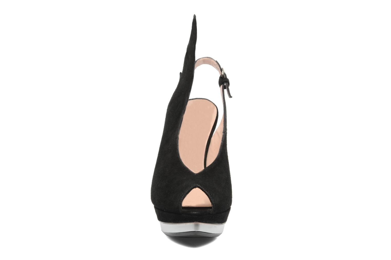 Sandales et nu-pieds Minna Parikka Ira Noir vue portées chaussures