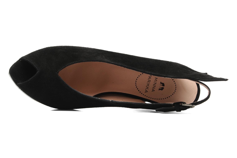 Sandales et nu-pieds Minna Parikka Ira Noir vue gauche