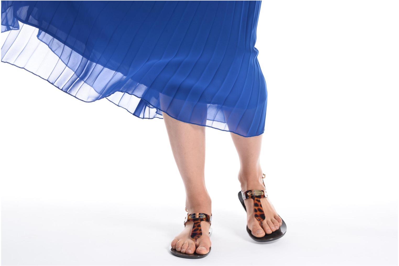 Sandales et nu-pieds Michael Michael Kors MK Plate Jelly Or et bronze vue bas / vue portée sac